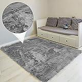 Amazinggirl Hochflor Teppich wohnzimmerteppich Langflor - Teppiche für Wohnzimmer flauschig Shaggy Schlafzimmer Bettvorleger Outdoor Carpet Grau 200x300