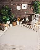 the carpet Mistra In- & Outdoor Teppich Flachgewebe, Modernes Design, Trendige Farben, Superflach, UV- und Witterungsbeständig, Creme, 140 x 200 cm