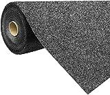 havatex Rasenteppich Kunstrasen mit Noppen 1.550 g/m² - Rot Blau Grau Braun Beige oder Anthrazit | Meterware | wasserdurchlässig | Balkon Terrasse Camping, Farbe:Anthrazit, Größe:200 x 250 cm