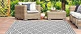 Jet-line Outdoor Garten Teppich 'Austin' grau Größe, 90 x 150 cm Gartenteppich Terrasse Balkon Wetterfest für In und Outdoor