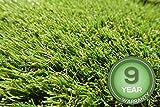 Stadion Kunstrasen Rasenteppich 32mm grün Meterware, verschiedene Größen, 2m 3m 4m 5m,wasserdurchlässig, extreme UV-Beständigkeit (300 x 300 cm)