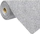 havatex Rasenteppich Kunstrasen mit Noppen 1.550 g/m² - Rot Blau Grau Braun Beige oder Anthrazit | Meterware | wasserdurchlässig | Balkon Terrasse Camping, Farbe:Grau-Blau, Größe:200 x 500 cm