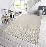 bougari In- und Outdoor Teppich Karo Grau, 200x290 cm