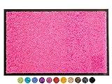 Primaflor - Ideen in Textil Schmutzfangmatte CLEAN – Pink 60x90 cm, Waschbare, rutschfeste, Pflegeleichte Fußmatte, Eingangsmatte, Küchenläufer Sauberlauf-Matte, Türvorleger für Innen & Außen