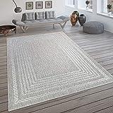 Paco Home In- & Outdoor-Teppich, Flachgewebe Mit Skandi-Muster Und Sisal-Look In Cream, Grösse:160x230 cm