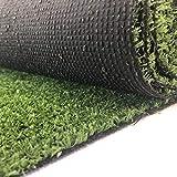 Carpeto Rugs Kunstrasen Rasenteppich für Garten Balkone Terrassen Wintergärten - Höhe: 7 mm Meterware Wasserdurchlässig 300 x 150 cm Grün