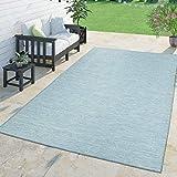 TT Home Moderner Outdoor Teppich Wetterfest Für Innen- Und Außenbereich Meliert In Blau, Größe:160x220 cm