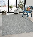 the carpet Calgary In- & Outdoor Teppich Flachgewebe, Modernes Design, Trendige Farben, Superflach, UV- und Witterungsbeständig, Türkis, 160 x 220 cm