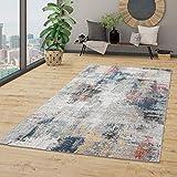 TT Home In-& Outdoor Teppich Terrasse Küchenteppich Vintage Abstraktes Muster Beige Blau, Größe:160x230 cm