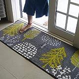Indoor-Türmatte 45 'x 120' cm Rutschfester, saugfähiger Eingangsteppich Küchenmatte Schmutzfänger-Bereich Teppich für Haustür Outdoor Maschinenwaschbarer Teppich Flur-Fußmatte (Goldener Herbst)