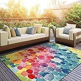 DECOMALL Outdoor Teppich Wetterfest Blasen Modern Außenteppich Bunt 160x230cm