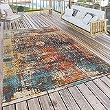 Paco Home In- & Outdoor Teppich Modern Nomaden Design Terrassen Teppich Bunt, Grösse:160x220 cm
