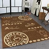 Paco Home In- & Outdoor Teppich Modern Flachgewebe Sisal Optik Coffee Braun Beige Töne, Grösse:80x200 cm