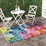 DECOMALL Outdoor Teppich Wetterfest Blasen Modern Außenteppich Bunt 80x150cm