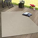 Paco Home In- & Outdoor Flachgewebe Teppich Terrassen Teppiche Natürlicher Look In Beige, Grösse:140x200 cm