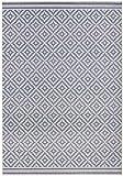 bougari In- und Outdoor Teppich Raute Blau Creme, 200x290 cm