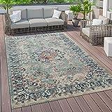 Paco Home Outdoor Teppich Vintage Balkon Terasse, Küchenteppich Flur Läufer versch. Farben u. Größen, Grösse:160x220 cm, Farbe:Mehrfarbig