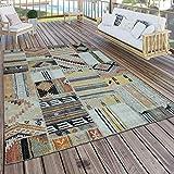 Paco Home In- & Outdoor Teppich Modern Ethno Muster Terrassen Teppich Bunt, Grösse:200x280 cm