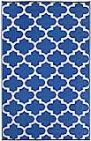 FAB HAB Tangier - Azur Blau & Weiß (90cm x 150cm)