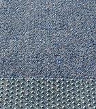 Kunstrasen, Rasenteppich, 100 cm Breite, Farbe blau-grau (150 x 100 cm)
