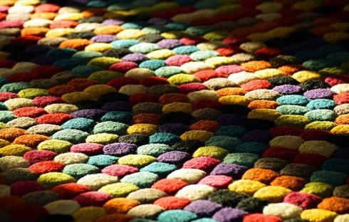 Ein schöner Outdoor-Teppich
