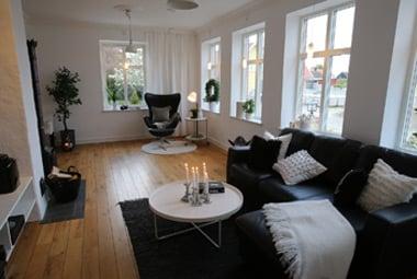 Zum skandinavischen Einrichtungsstil passen Outdoor-Teppiche hervorragend.