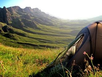 Outdoor Teppich beim Camping