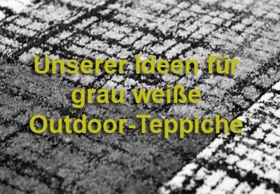 Einrichtungsideen für Outdoor-Teppiche in grau und weiß